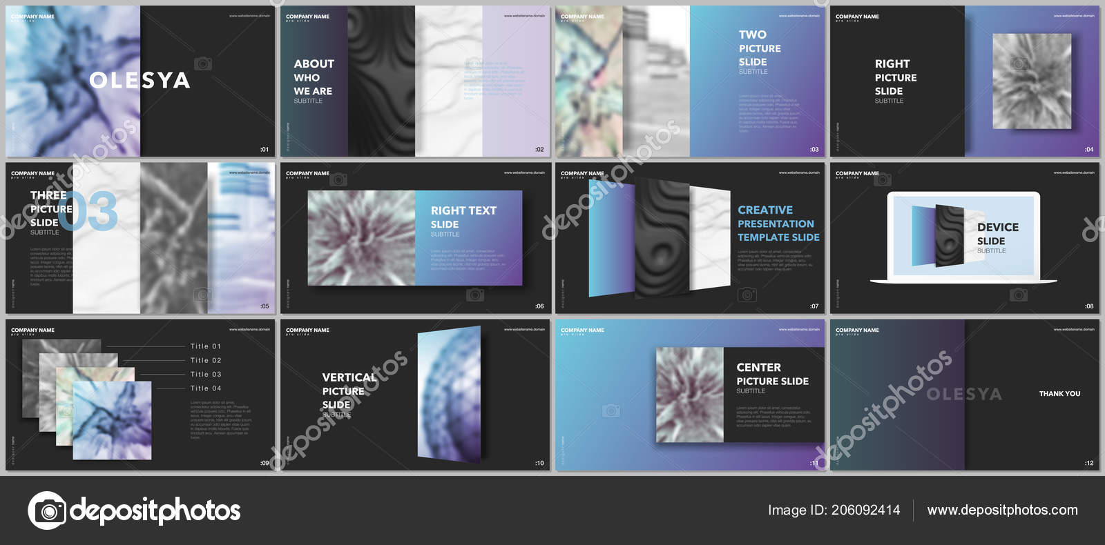 minimal presentations design portfolio vector templates with