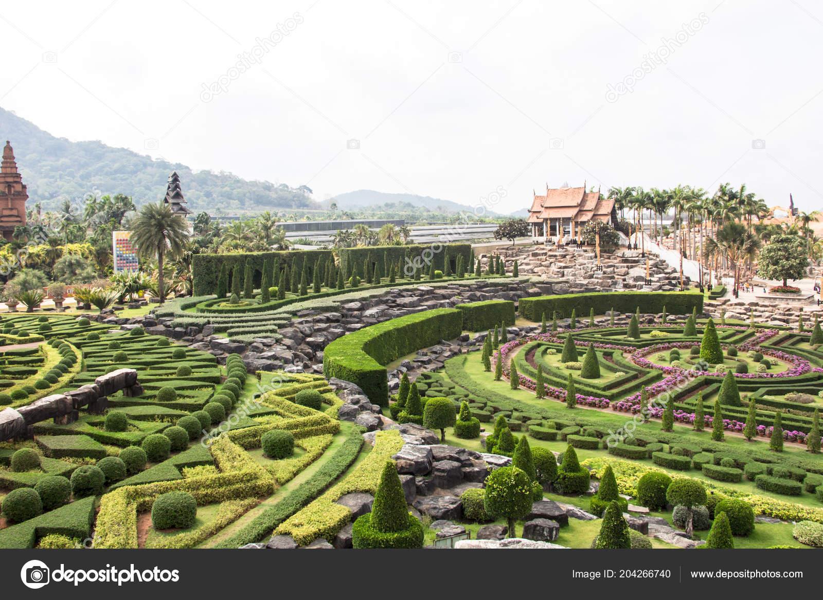 Nongnooch Tropical Botanical Garden Pattaya Thailand — Stock Photo