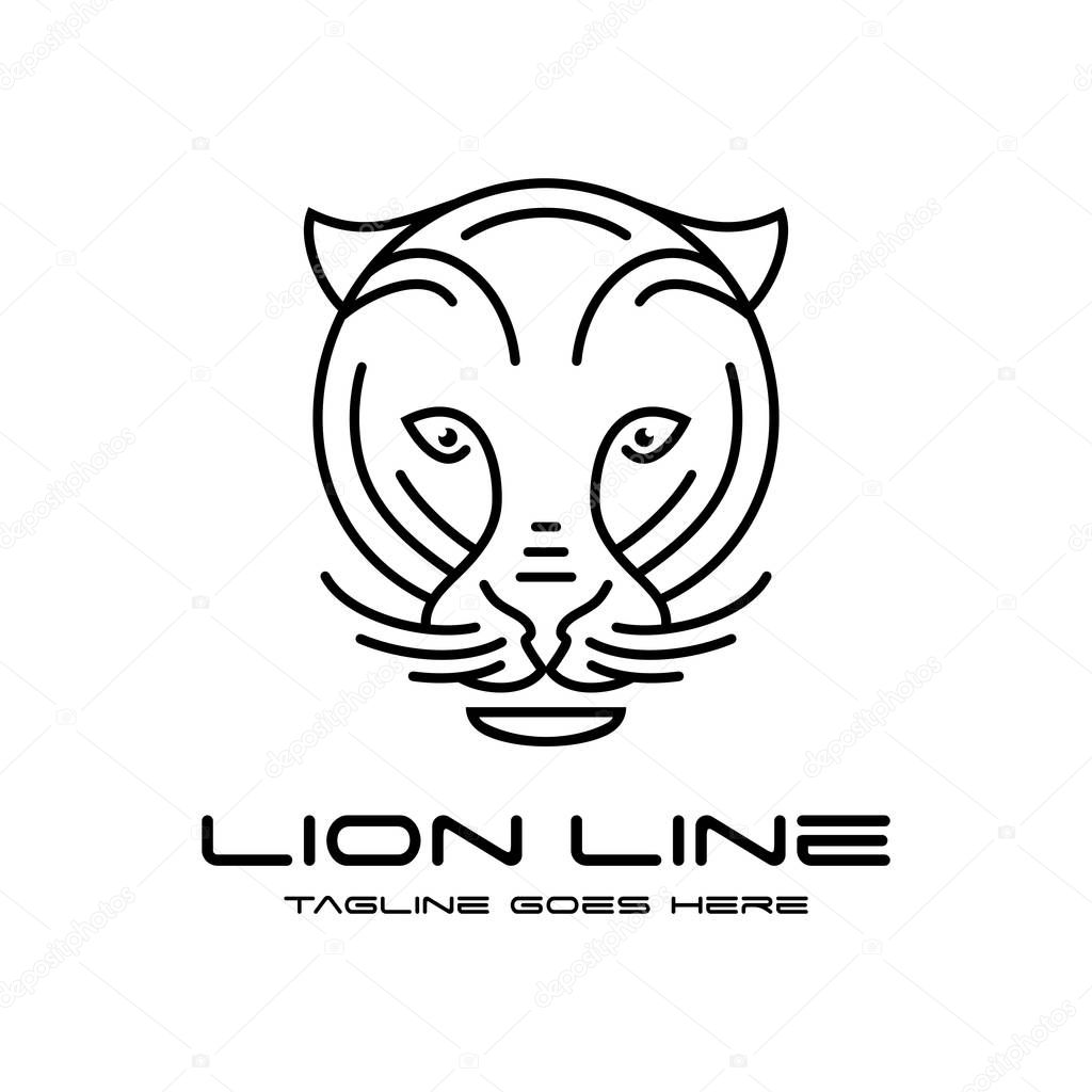 Lion Head Outline Logo Your Company Premium Vector In Adobe Illustrator Ai Ai Format Encapsulated Postscript Eps Eps Format Outline logo of stylized lion line style. wdrfree