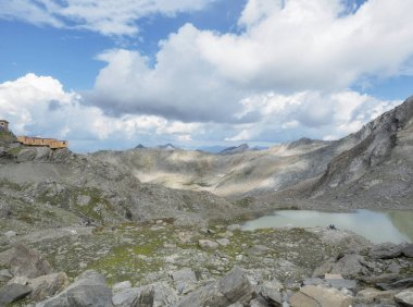 2018 august the 19th  Senales valley, trentino alto adige country trekking day on mountain