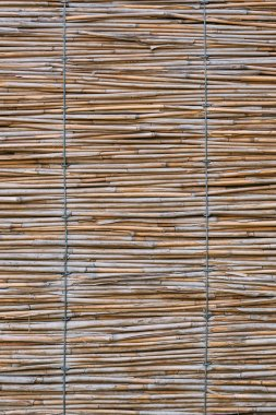 close up texture of rug made of bamboo sticks