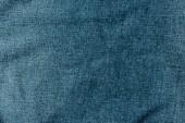 pohled shora tmavě modrá džínovina textilu jako pozadí