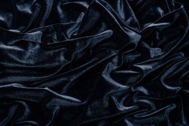 Top view of dark grey velvet textile as background stock vector