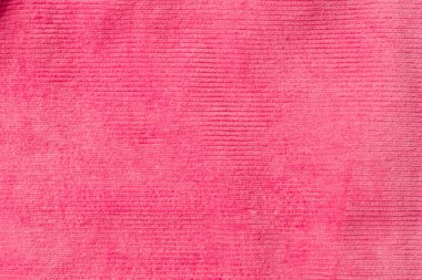 Top view of striped pink textile as background stock vector