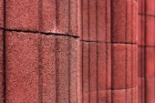 celý rám obrazu pozadí červené zdi