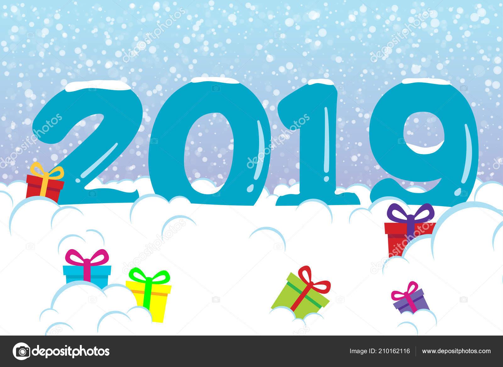 Fotografie Buon Anno 2019 Neve Cartolina Buon Anno 2019