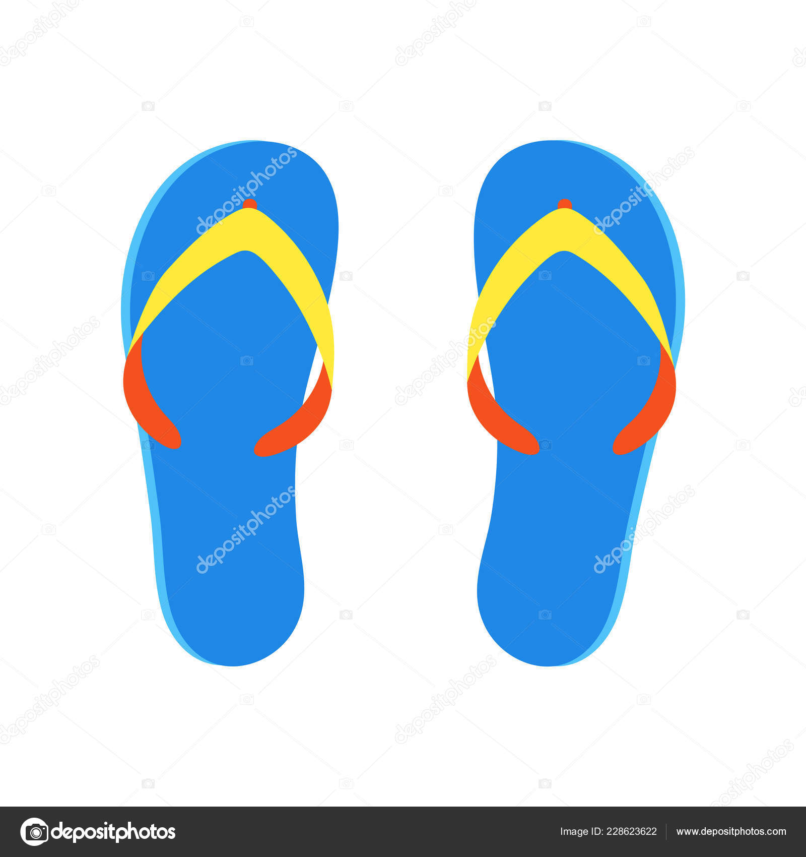 0331d84f9 Beach slippers flip flops flat style design vector illustration isolated on  white background icon sign. Summer beach shoes sandals.– stock illustration