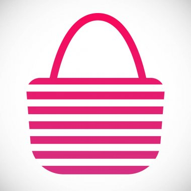 Beach bag flat style design vector illustration gradient version isolated in white background.
