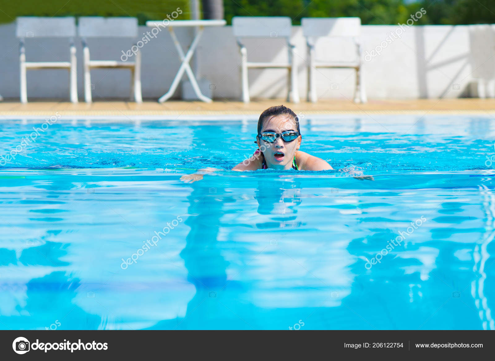 Women Swimming Exercise Swimming Pools — Stock Photo ...