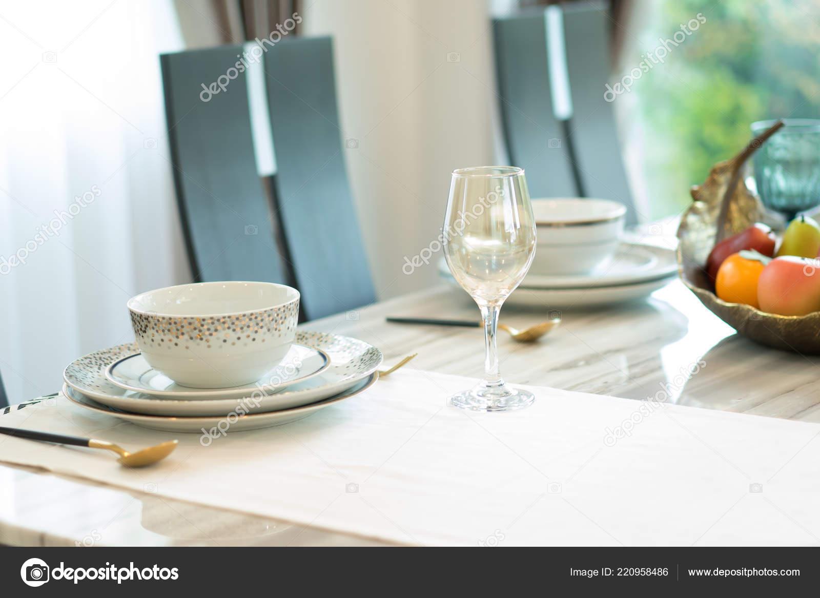 Decoración Mesa Comedor Lujo Casa — Fotos de Stock ...