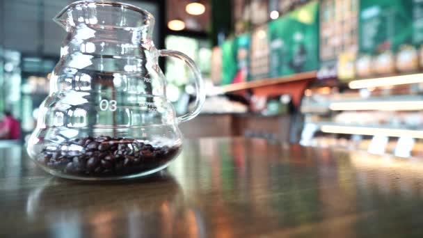 Kávébab üveggel a kávéboltban való díszítéshez
