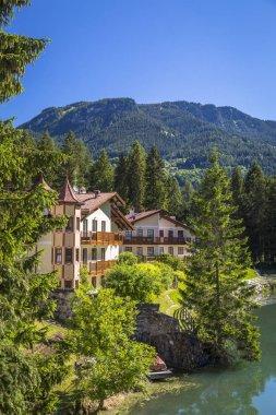 Alpine landscape in the Dolomites, Italy.