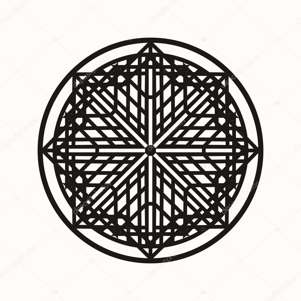 Sacred Geometry Eight Pointed Cross In An Environment Of Rhombuses And Rectangles Secret Symbol Of Geometry Labyrinth Of Illuminates Black Ethnic Totemic Geometric Tattoo Alchemy Astrology And Spirituality Vector Illustration Premium Vector,Website Design Boca Raton