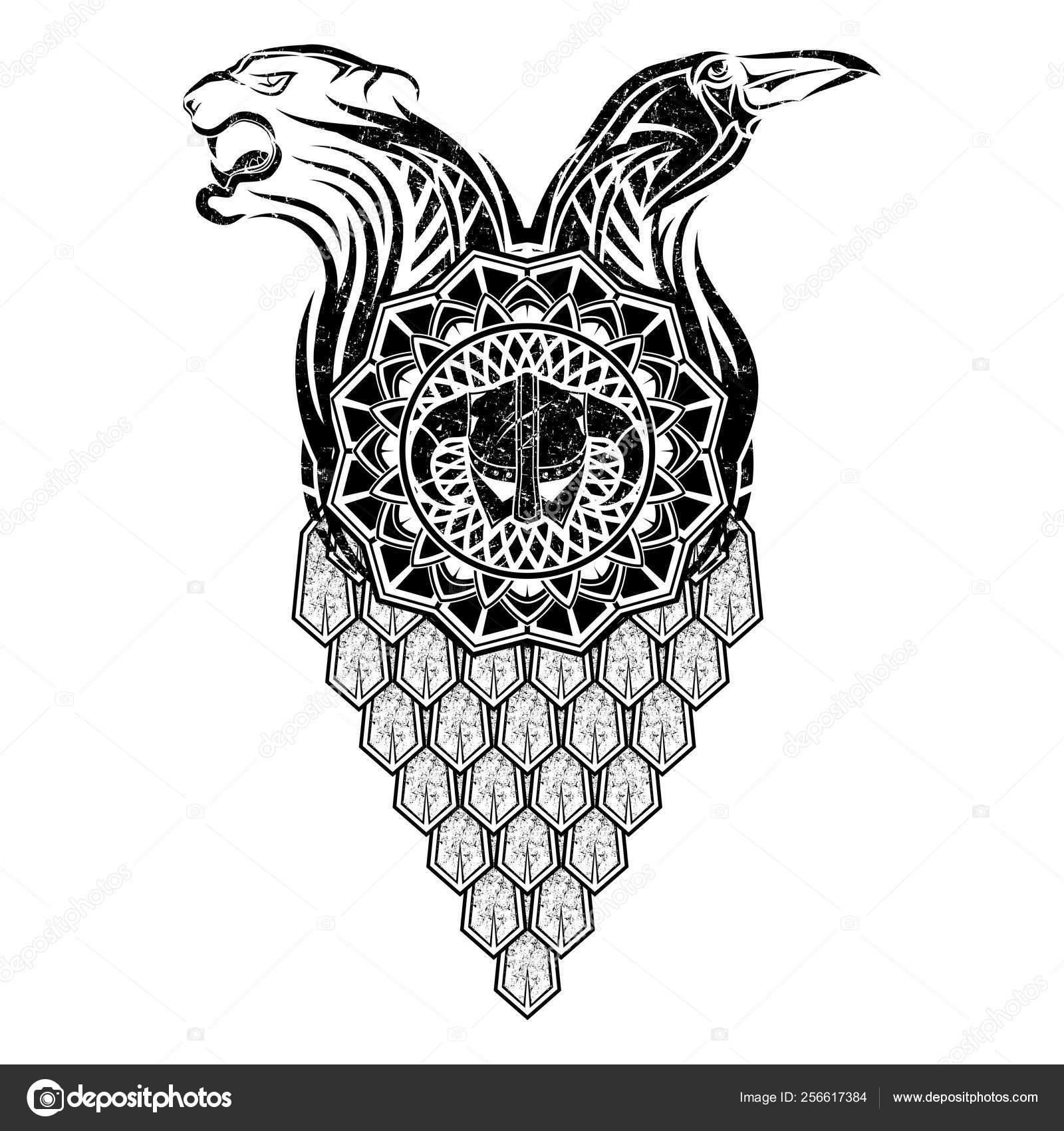 96d2d0cf5 Scandinavian tattoo_0007 — Stock Vector © balashovmihail38.gmail.com ...
