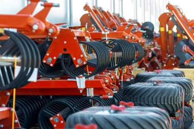 Trailed agricultural equipment. Products of the plant for the production of agricultural machinery