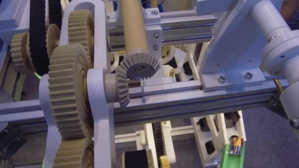 The operating mechanism with gear wheels.