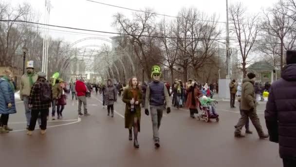 Rusko, Moskva - 16. března 2019: Oslava dne svatého Patrika v moskevském parku Sokolniki