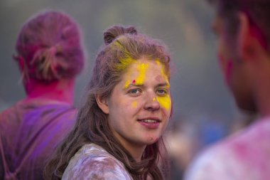 BUDAPEST, HUNGARY - AUGUST 15, 2017 : Unknown girl is a participant of cultural and music festival Sziget. Sziget Festival, the Island of Freedom, has ended with the total number of 452.000 Citizens