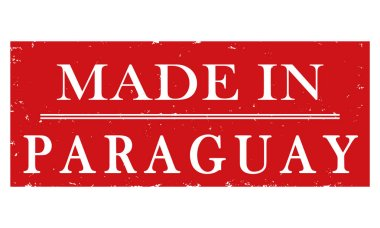 vector label Made in Paraguay