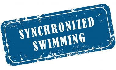 web grungy stamp sport Synchronized Swimming