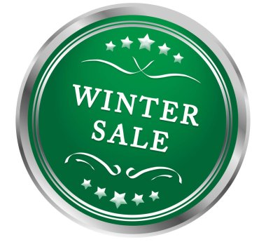 winter sale web Sticker Button