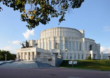 Minsk, Belarus - September 5, 2019: The National Academic Opera and Ballet Theatre of Belarus in Minsk