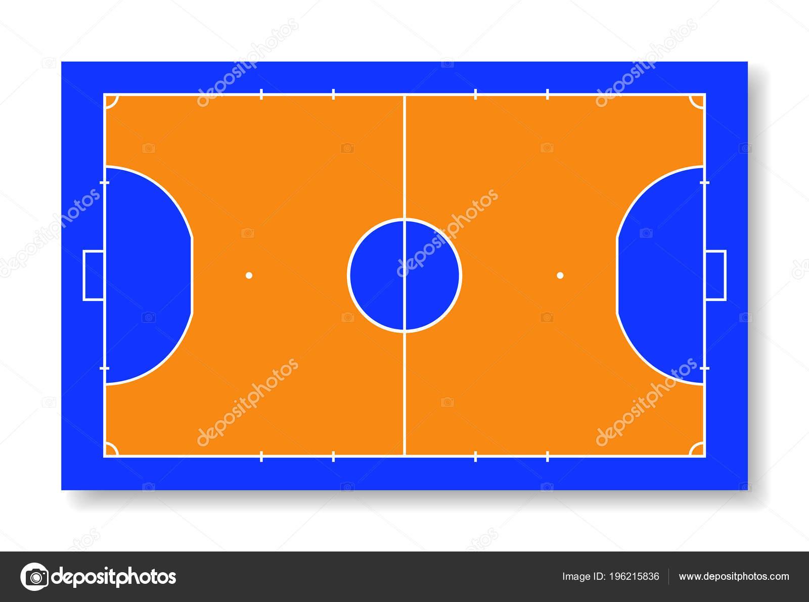 Futsal Campo Tribunal Ilustração Vetorial Vista Superior — Vetores de Stock 55a62127a787d