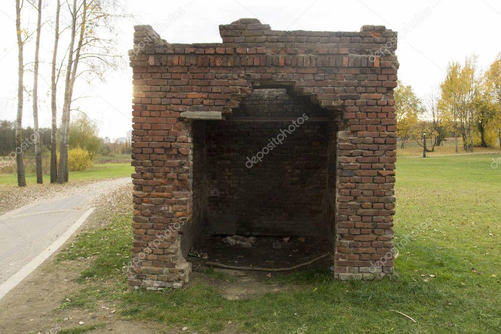 Ruined buildings in ruins