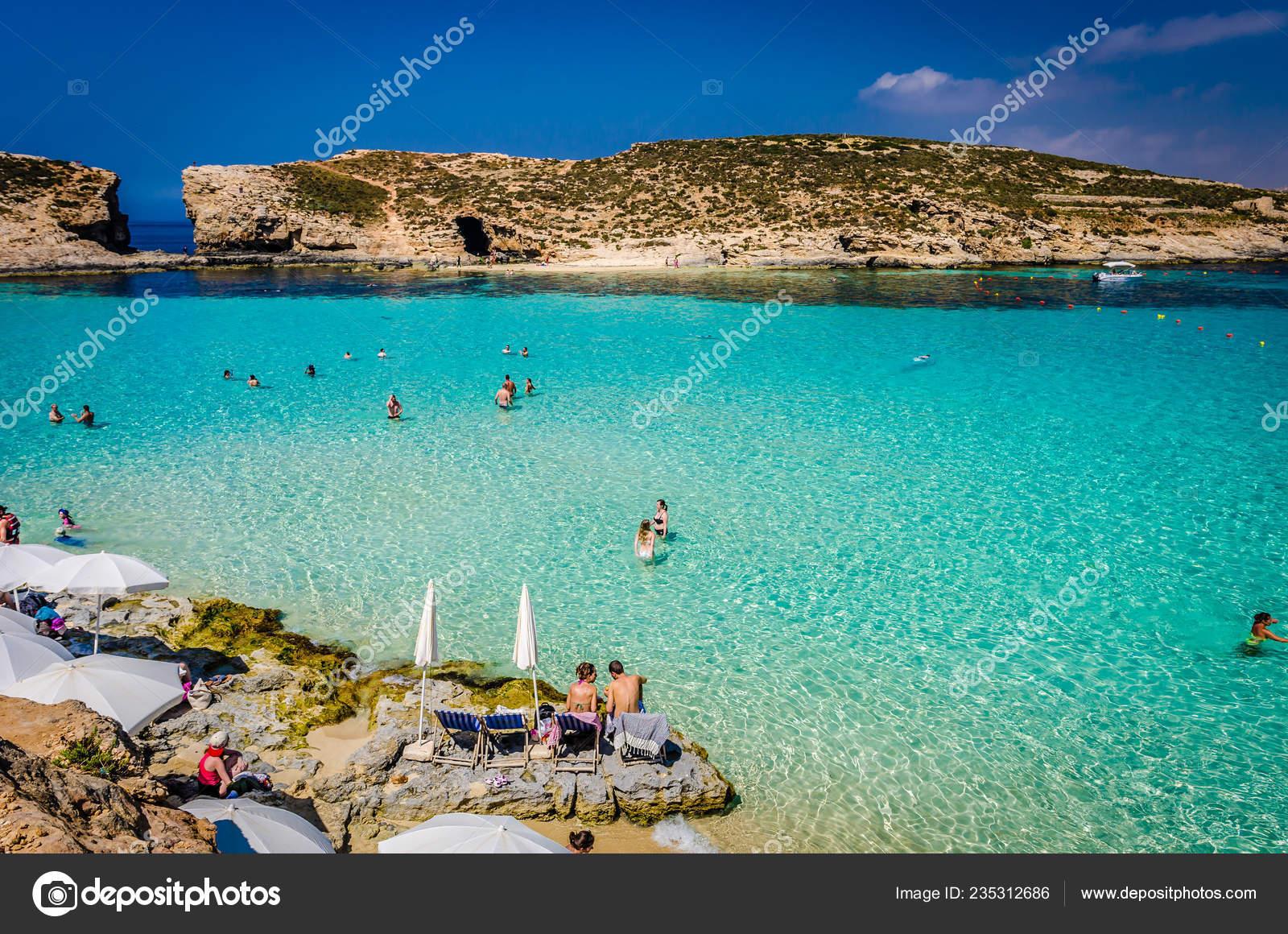 Blue Lagoon Malta Caves Blue Lagoon Island Comino Bright
