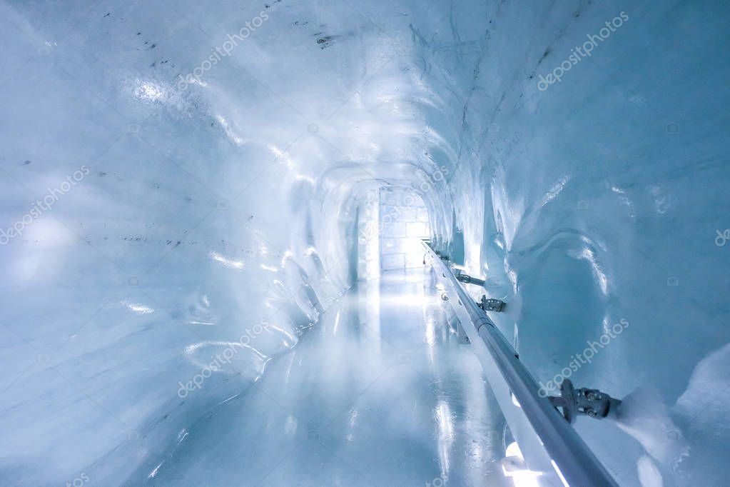 Ice cave walkway in Jungfraujoch,Switzerland