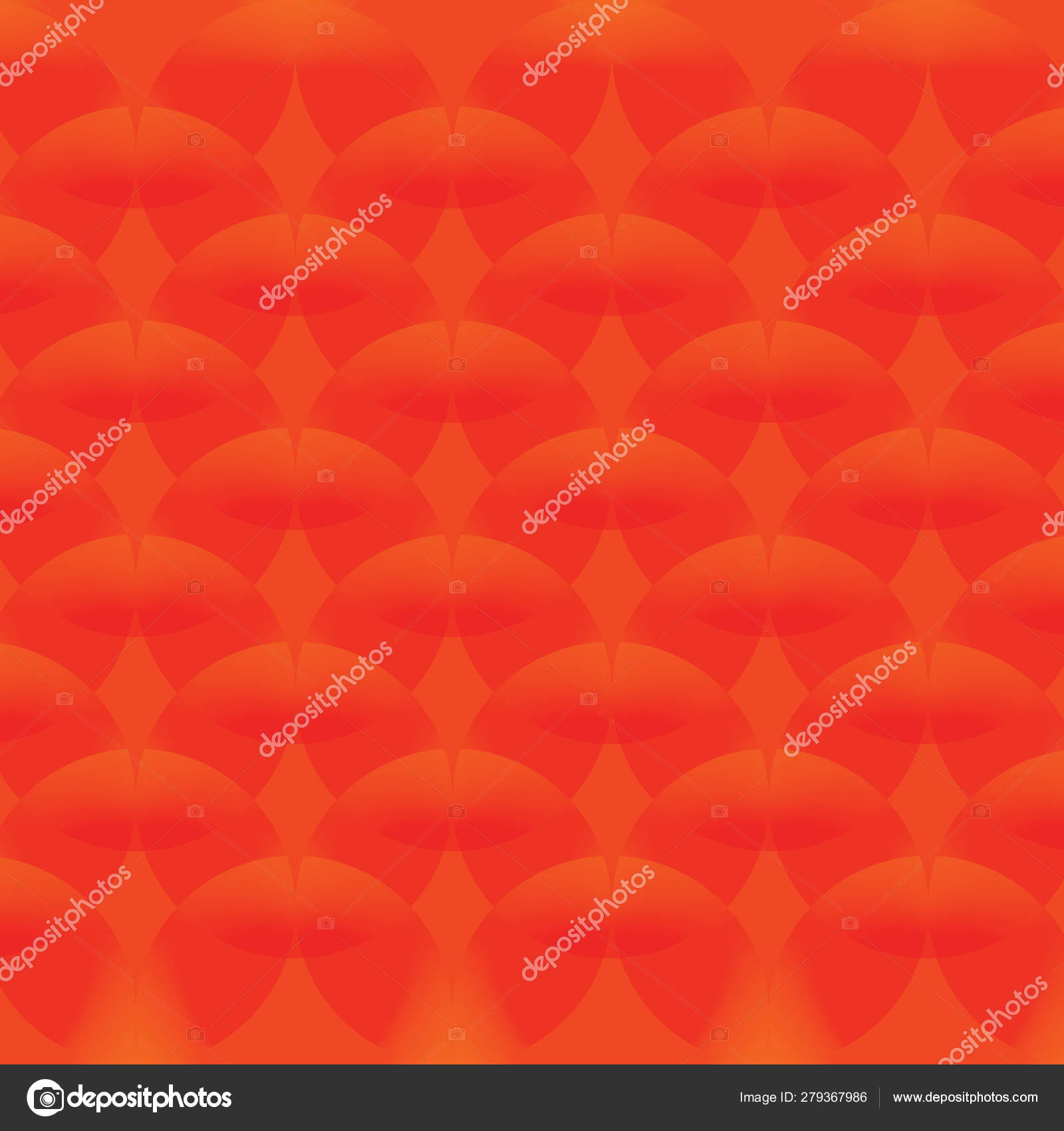 Red Simple Continuous Circle Pattern Of Wallpaper Stock