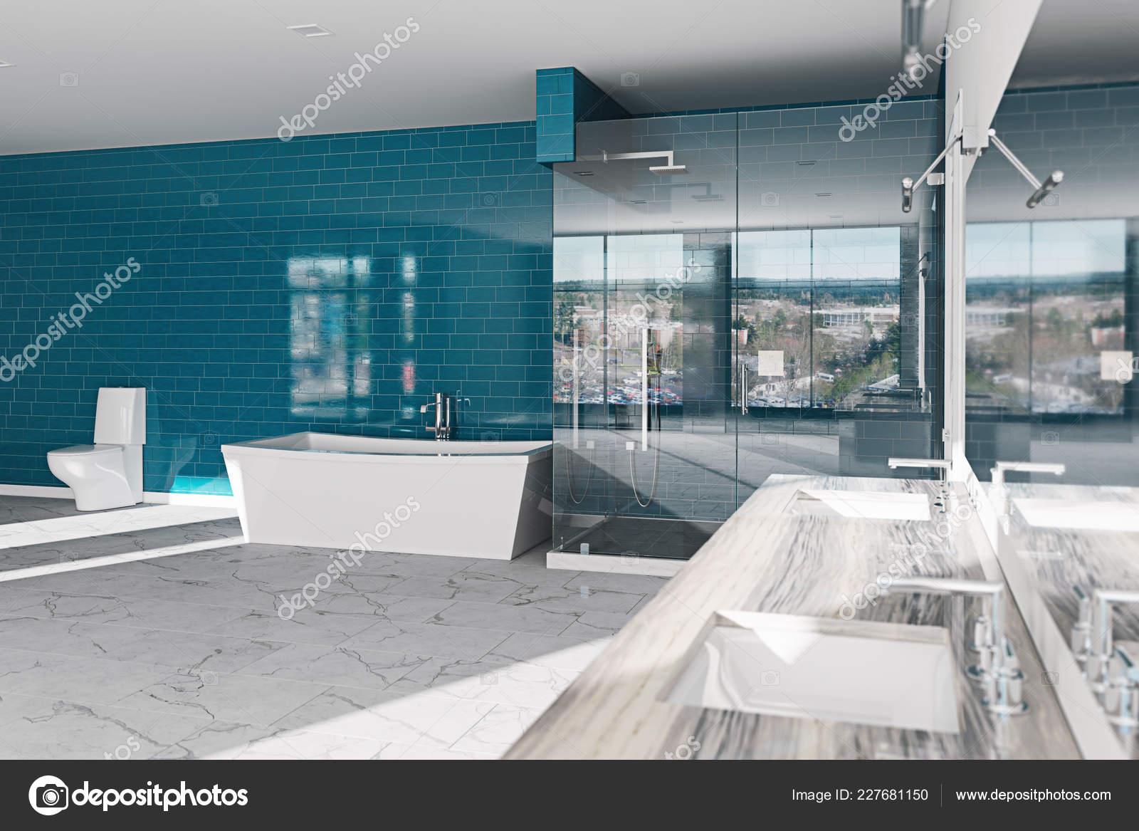 Spa Concept Salle Bains Hôtel Architecture Moderne Design Intérieur Rendu U2014  Photo