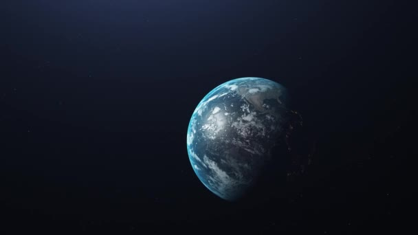Earth in space animation USA