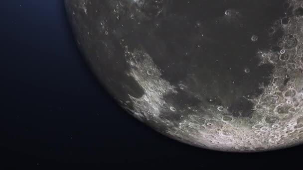 Repülés után Moon. Napkelte a föld felett. Csodálatos kilátás a Föld bolygó.
