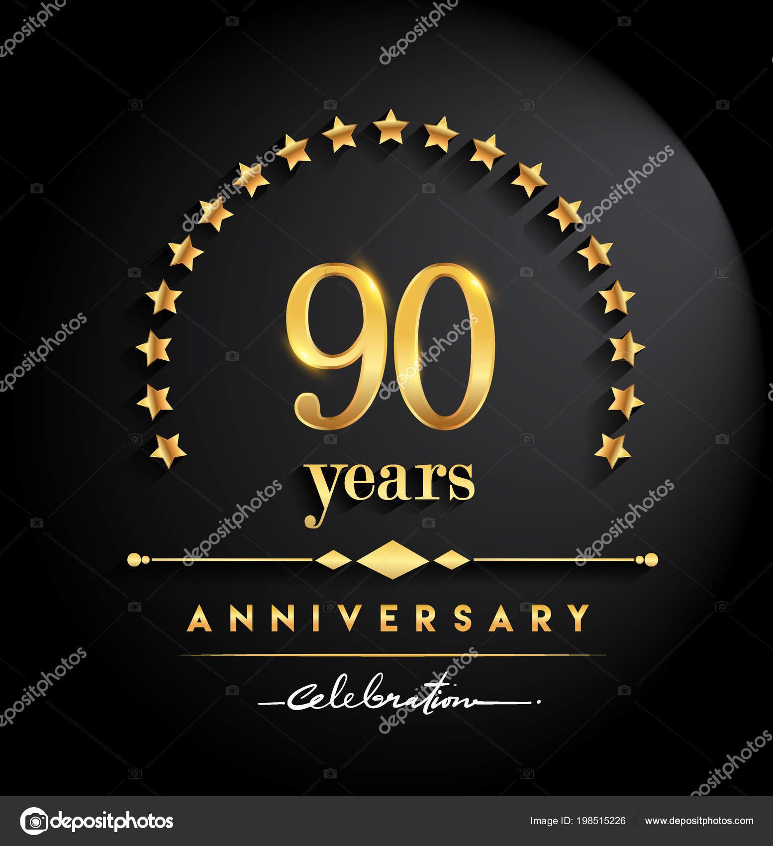 Celebración Aniversario Años Logo Aniversario Con Estrellas