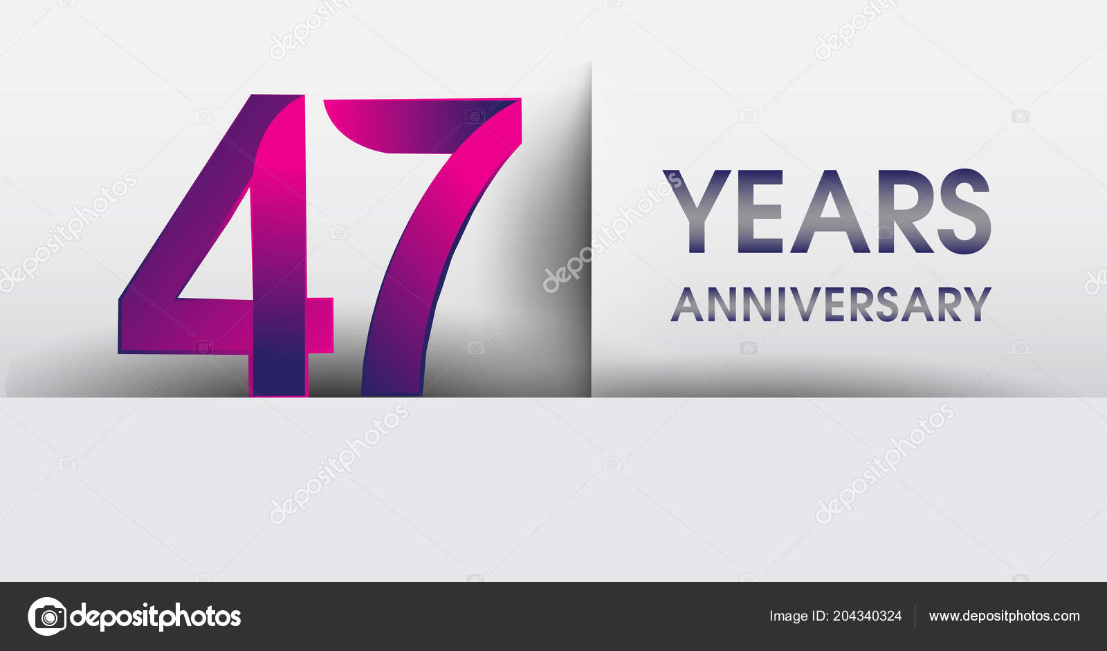 years anniversary logo vector design template elements your birthday