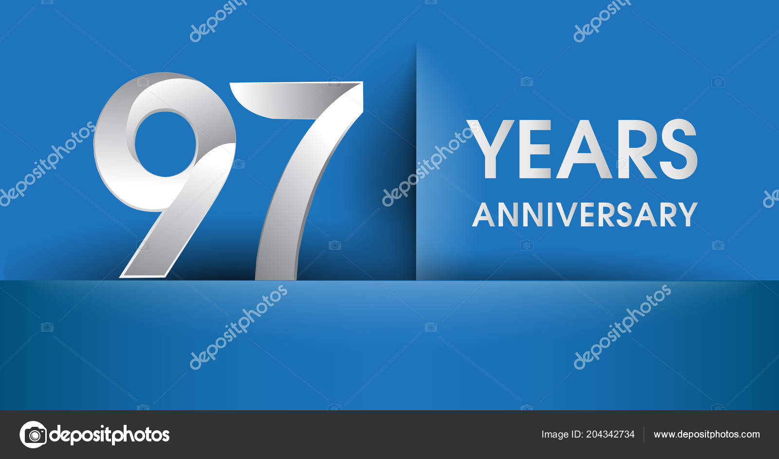 years anniversary logo blue vector design template elements your