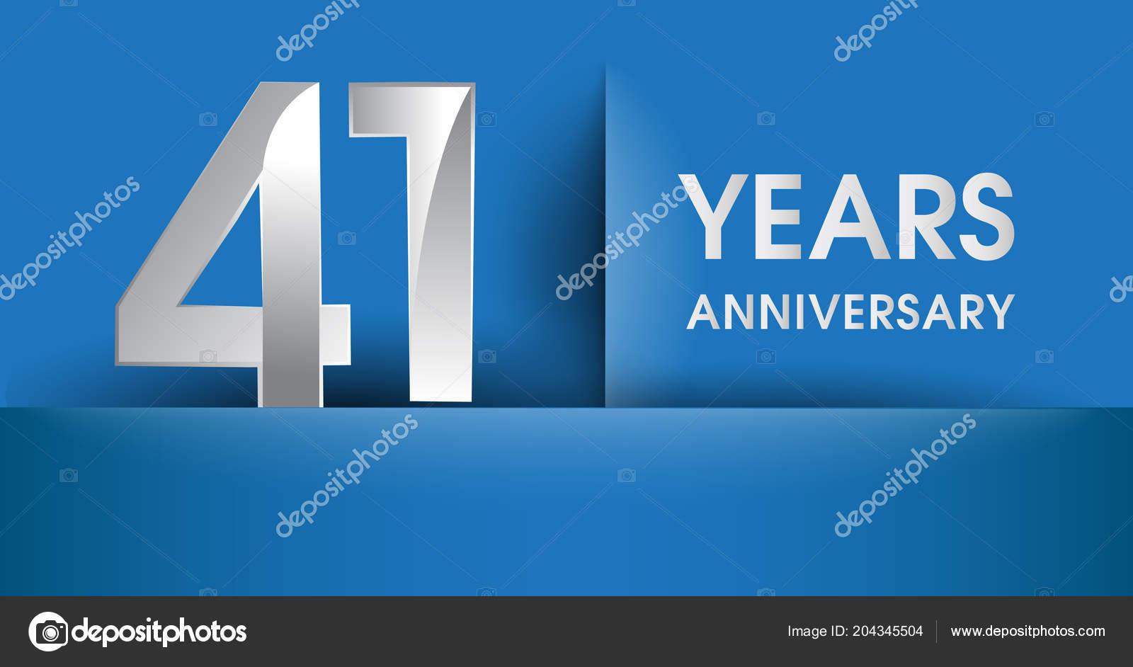 年周年記念ロゴ青ベクトル デザイン テンプレート要素あなたの誕生日
