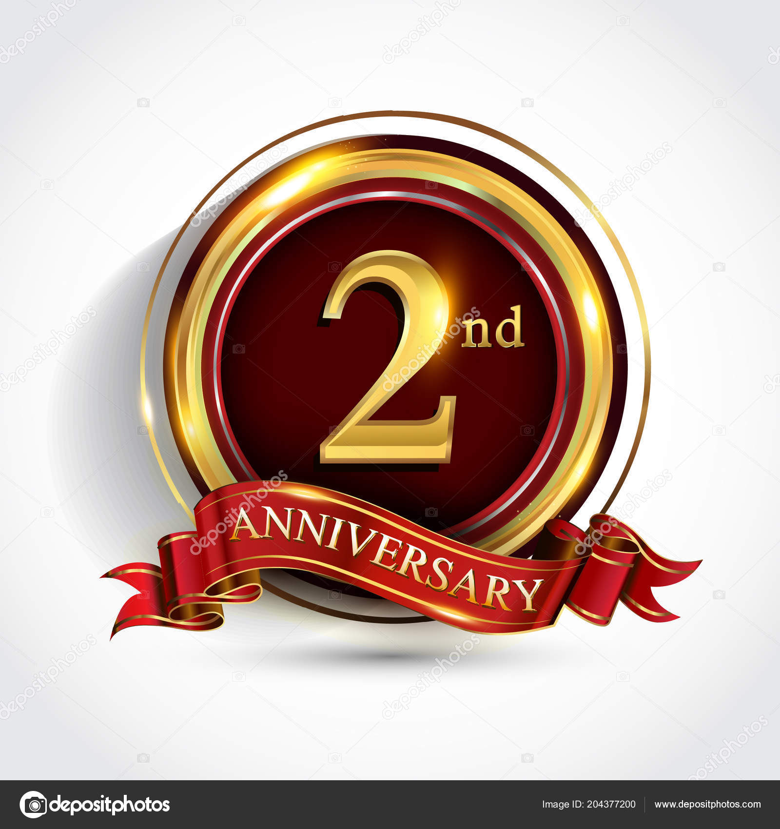 2nd Years Anniversary Celebration Logotype Logo Confetti Golden Ring Red Stock Vector C Vectorideas 204377200,Types Of Hamsters Breed