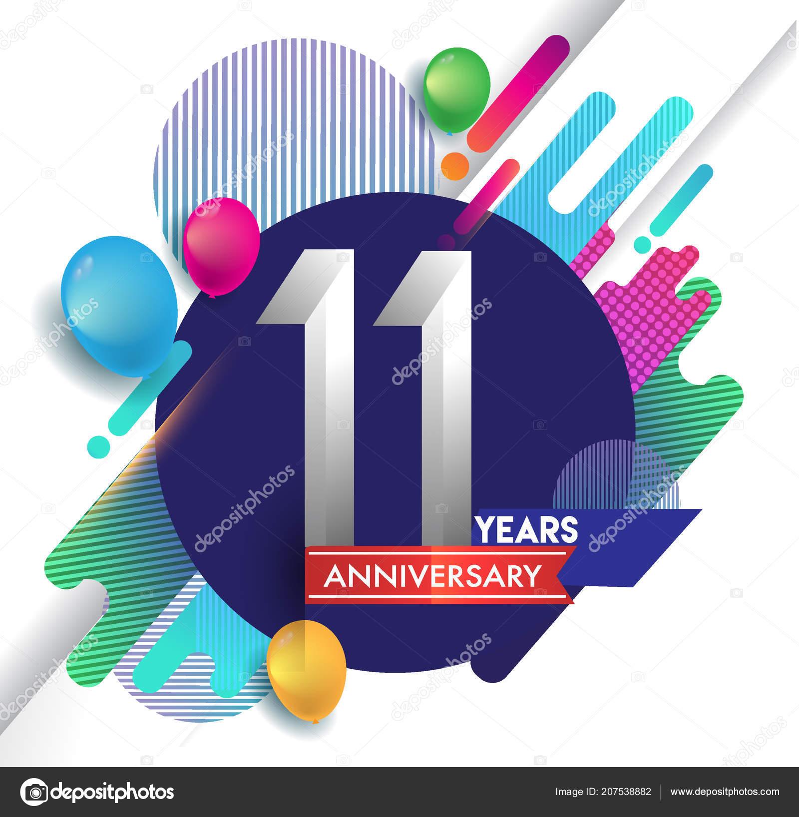 Logotipo Del Aniversario Años Con Colores Fondo Abstracto