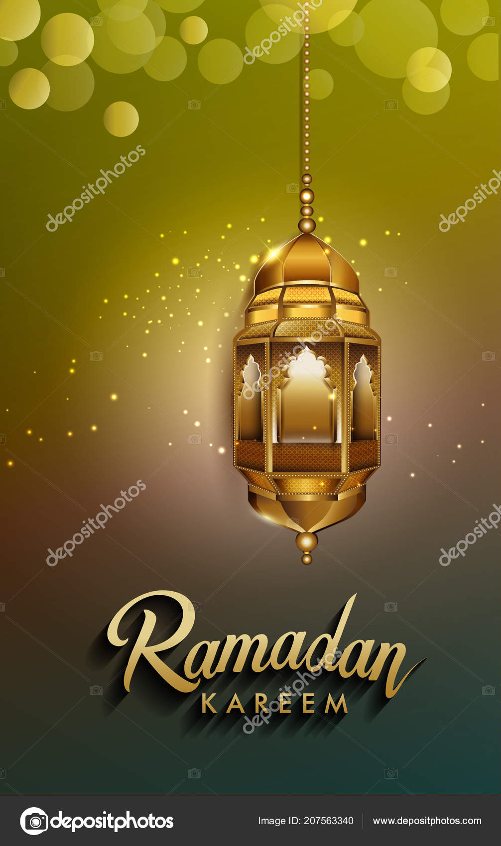 Ramadan Greetings Background Elegant Greetings Card Design Template