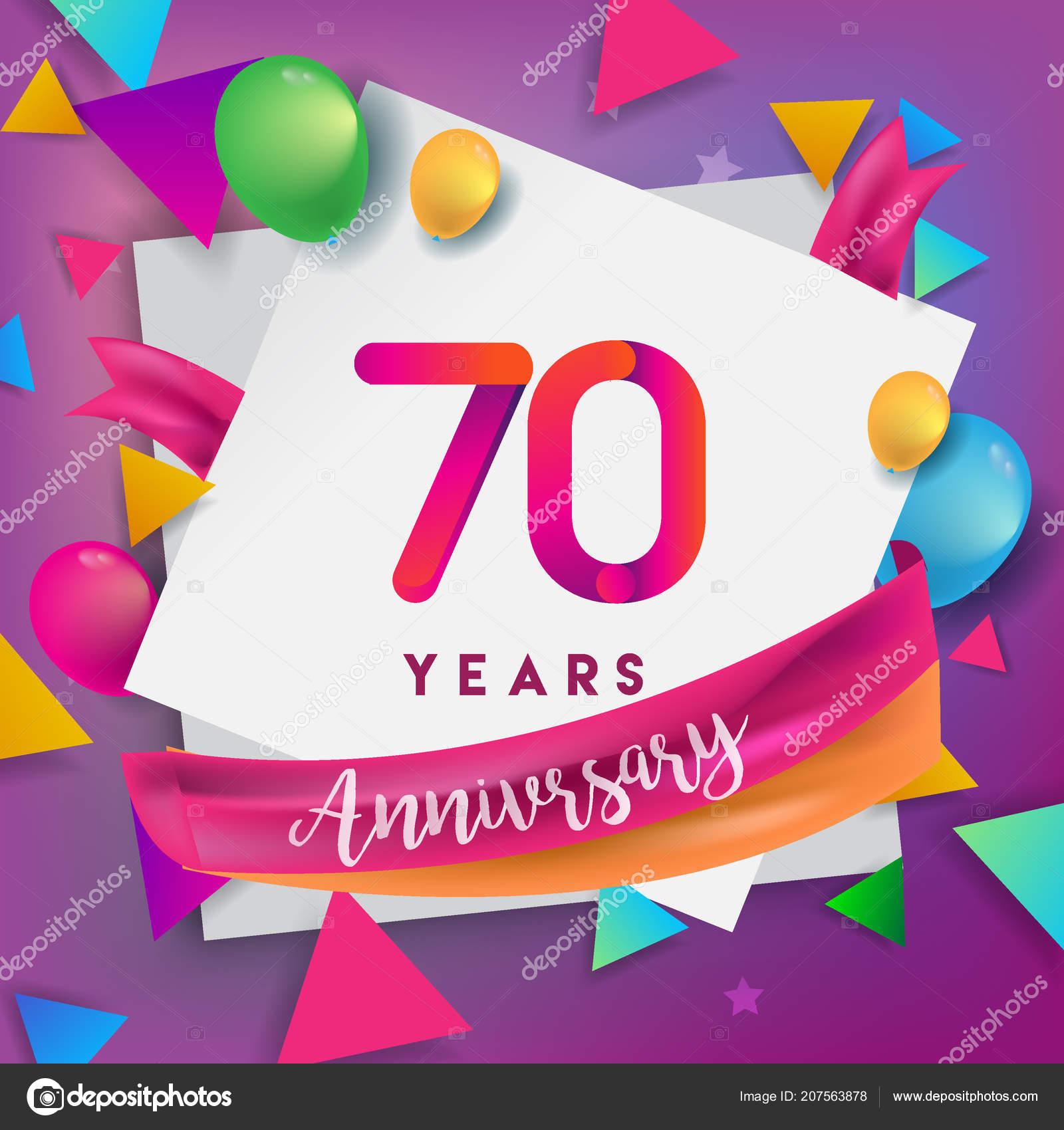 Años Diseño Celebración Del Aniversario Globos Cinta Diseño