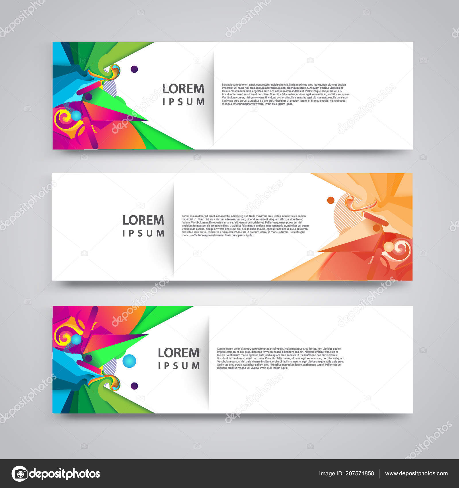 Diseño Encabezado Plantilla Flyer Colección Plantillas Diseño Banner ...