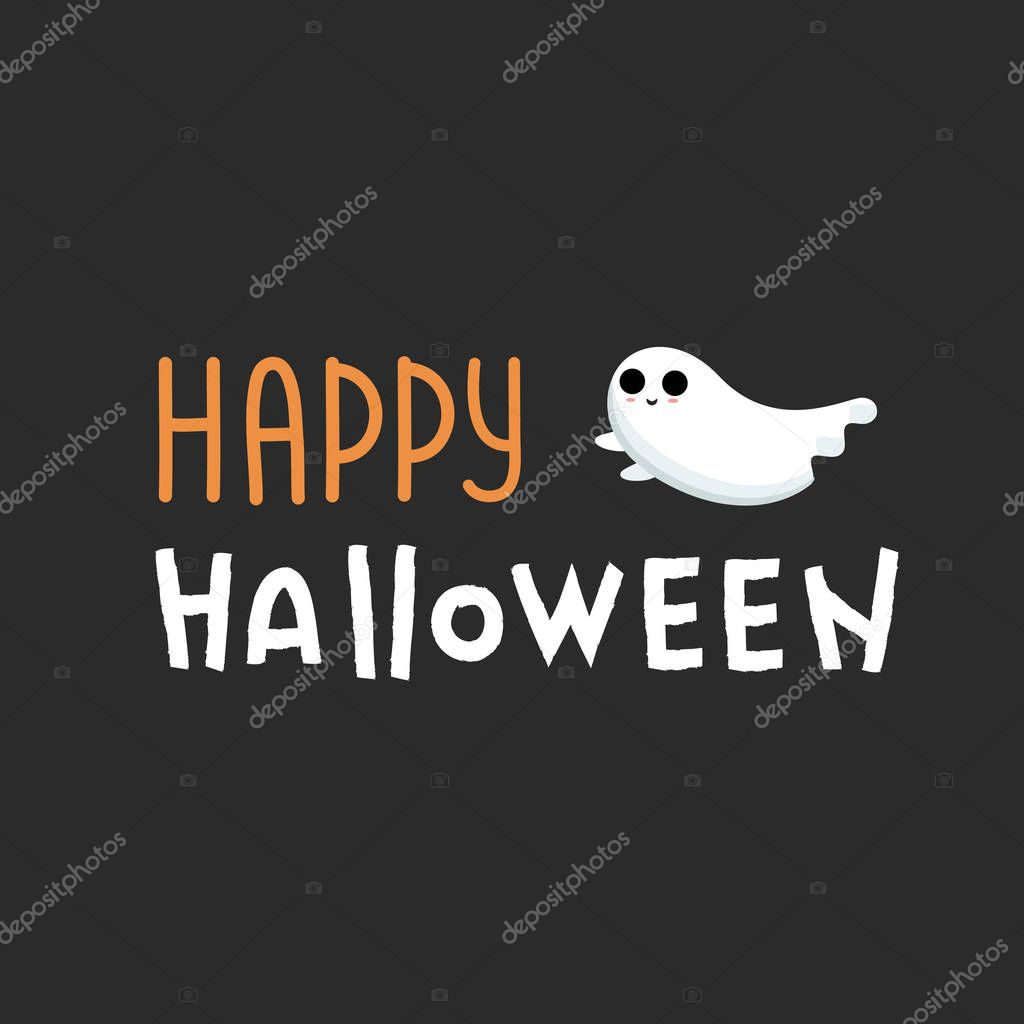 Happy Halloween Lettering Vector Happy Halloween Text Banner With White Ghost Vector Font Design Doodle Design Vector Texture Halloween Font Premium Vector In Adobe Illustrator Ai Ai Format Encapsulated