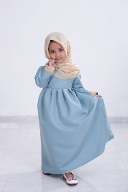 asian muslim little girl