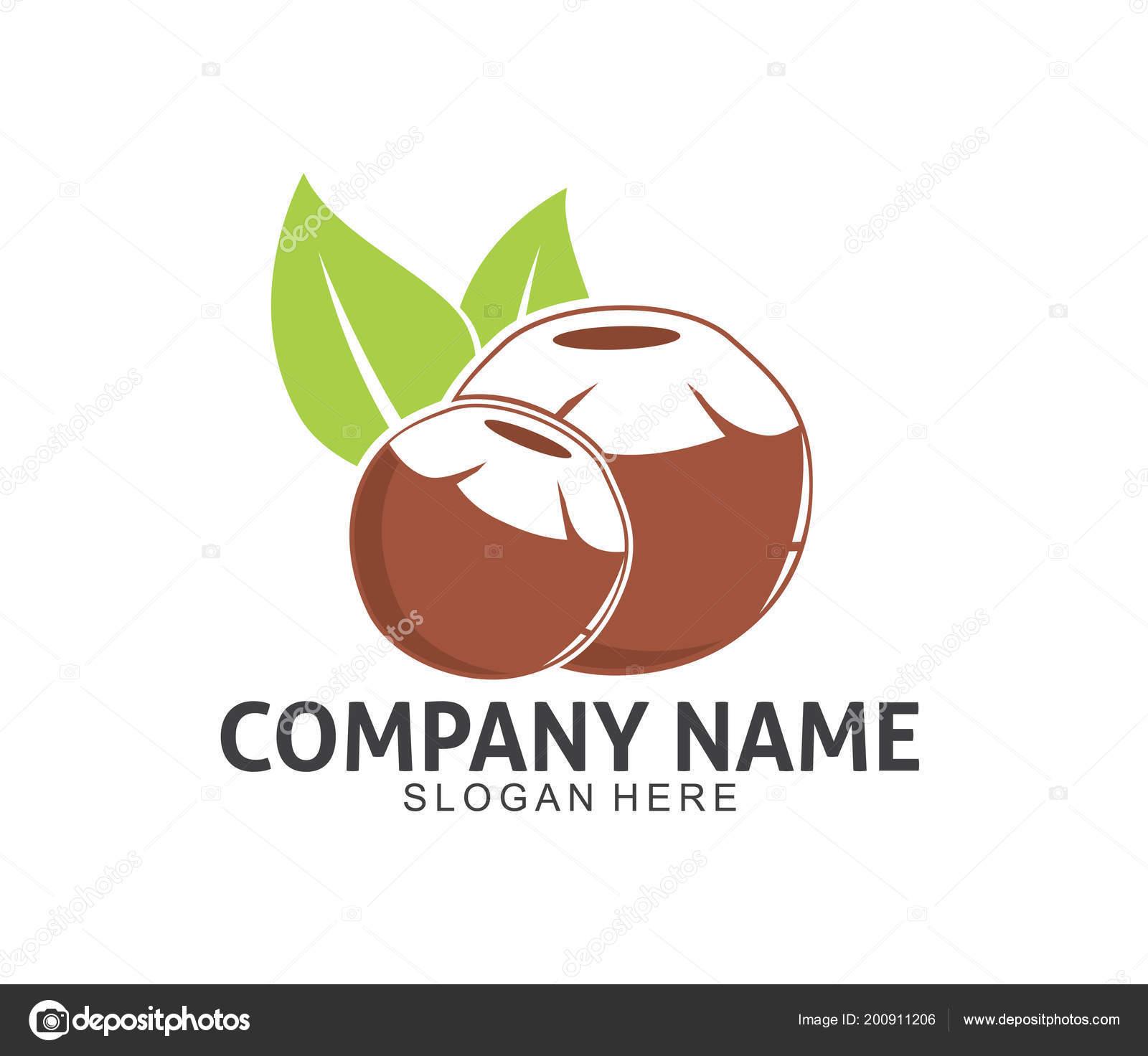 coconut drink beverage vector icon logo design template vetores de