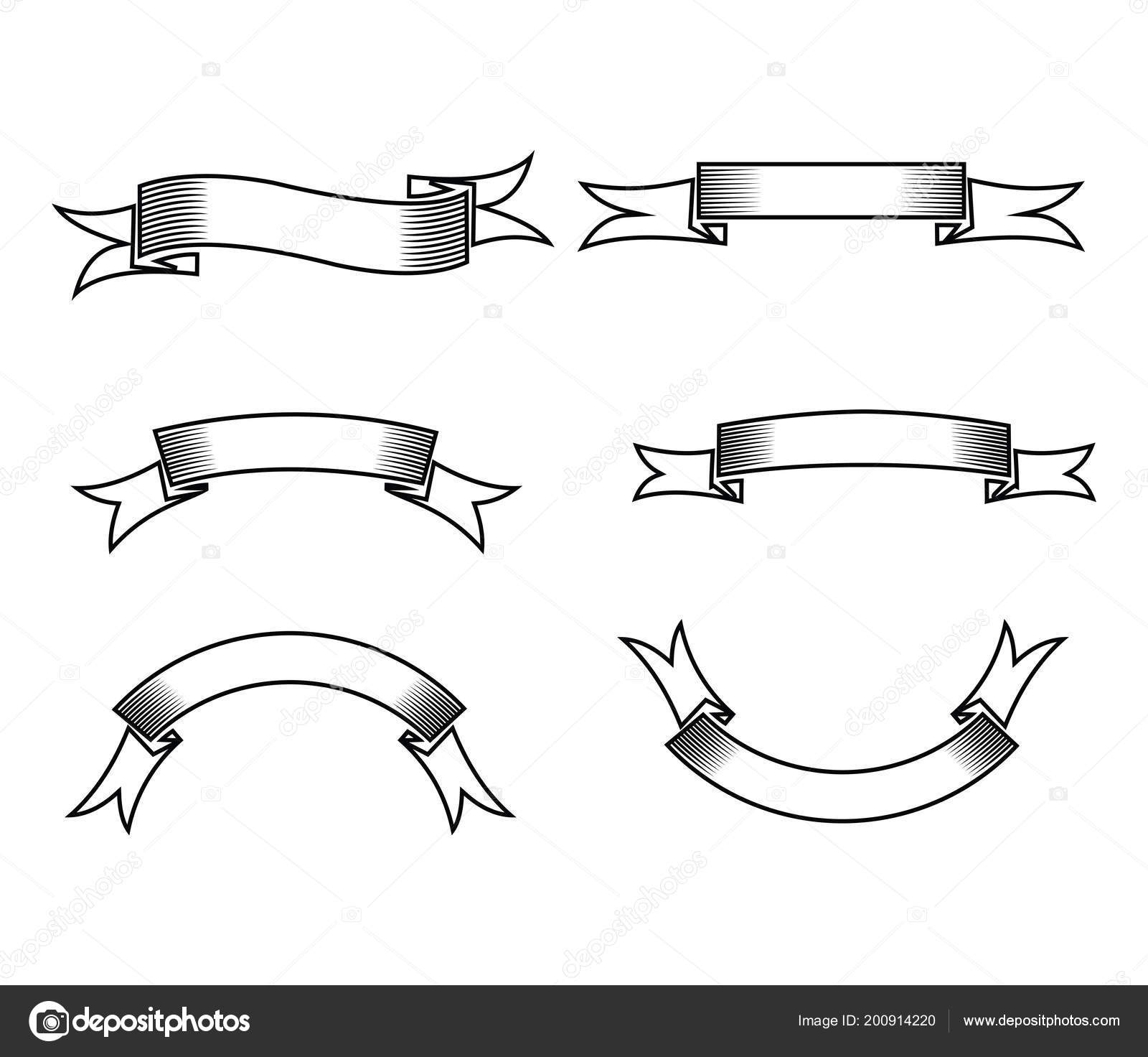 Blank ribbon banner template | Blank Ribbon Banner Vector