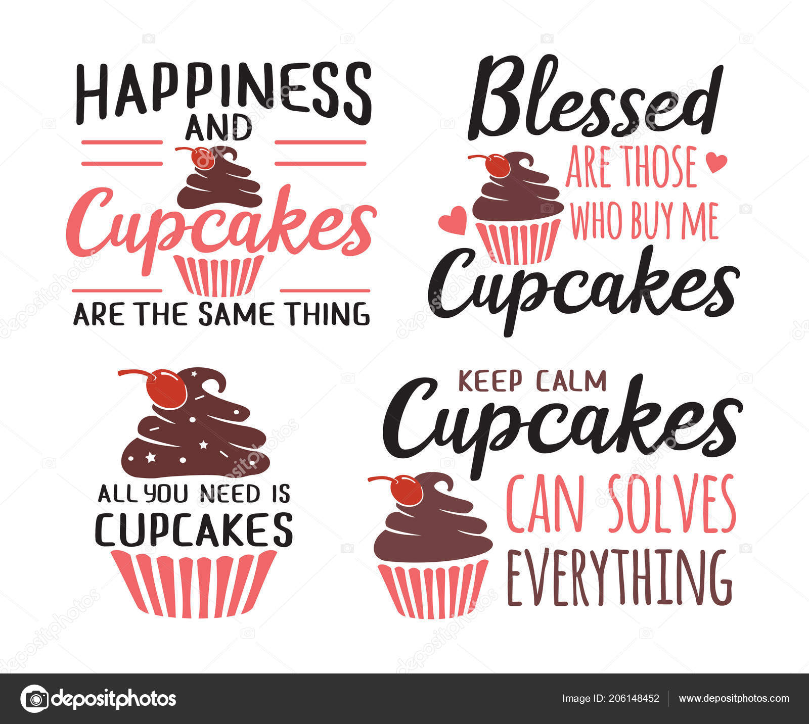 Baking quotes | Cupcakes Baking Funny Quote Saying Vector ...