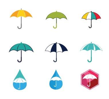 umbrella weather vector logo design template