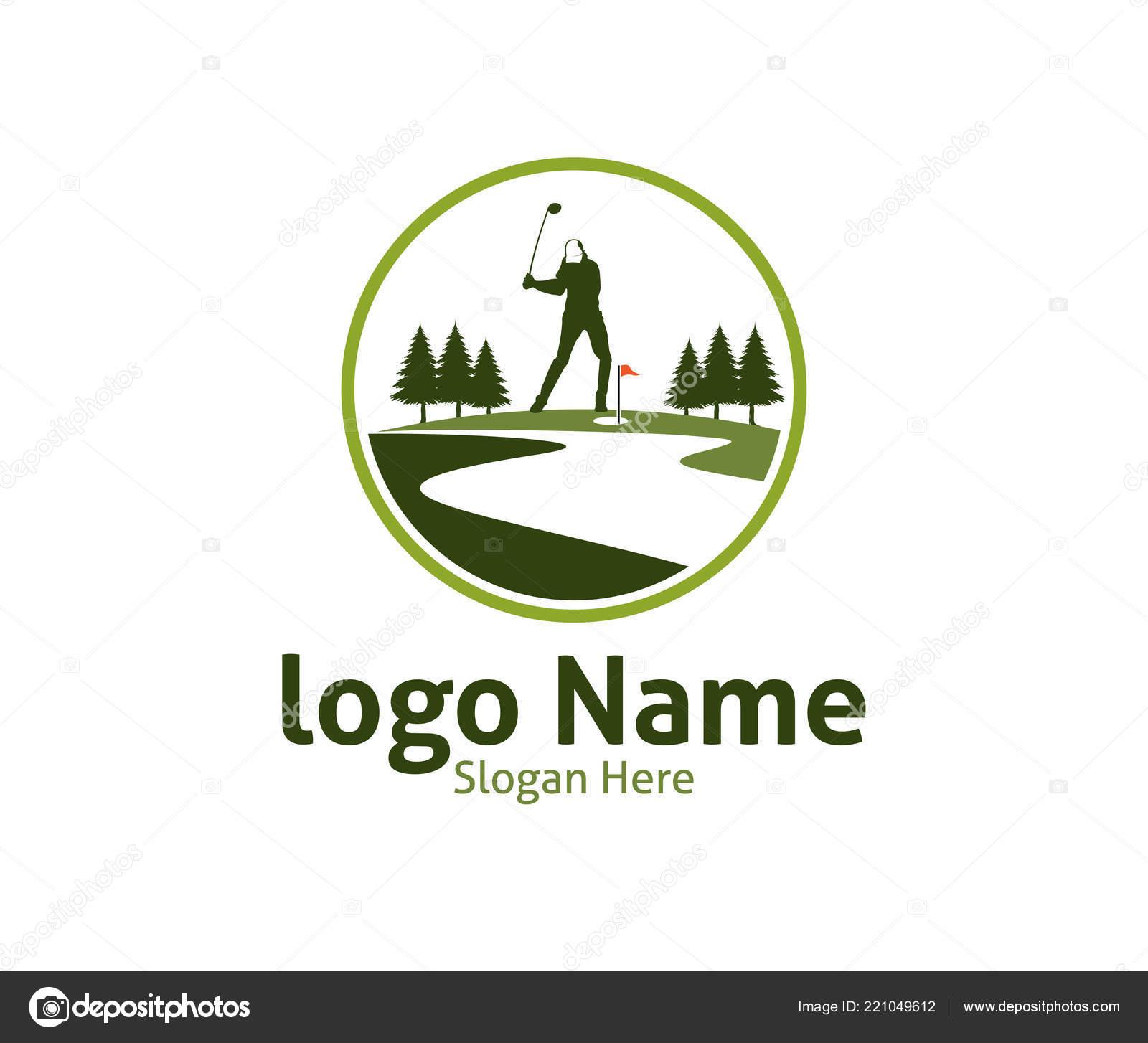 golf outdoor sport vector logo design inspiration player hits ball rh depositphotos com